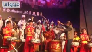 """بالفيديو: """"الشبشب و المقلاه """" ألات موسيقية لأول مرة بختام مهرجان الطبول بالقلعة"""