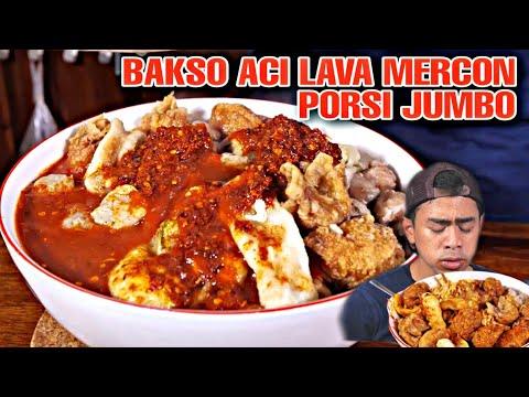 PARAH! MUKBANG MAKAN BASO ACI LEVEL LAVA MERCON!! | #spicycimorychallenge