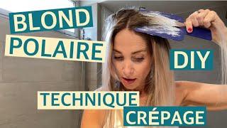 MON BALAYAGE BLOND MAISON DIY : JE TESTE EN LIVE LA TECHNIQUE DU CRÉPAGE !