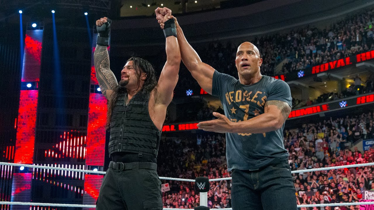 Download The Rock comes to Roman Reigns' aid: Royal Rumble 2015