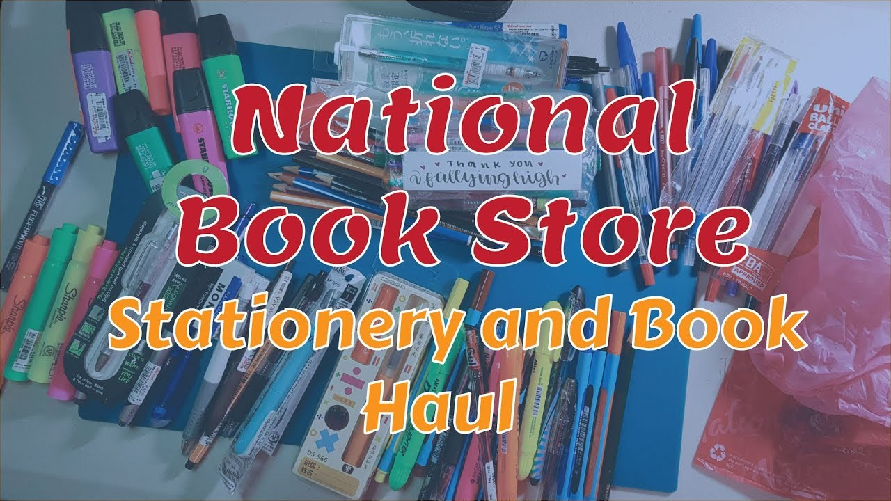 Stationery And Book Haul December 2017 National Book Store Office Warehouse Sm Stationery Youtube