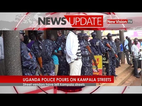 Uganda police pours on kampala street