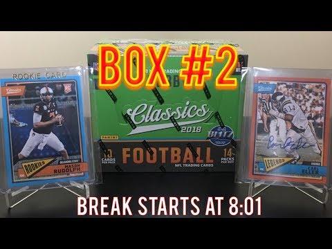 LIVE BOX BREAK - 2018 Panini Classics Football Hobby Box Break!