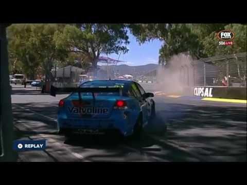 James Golding Dunlop V8 Supercar Crash   Turn 3   Clipsal 2015
