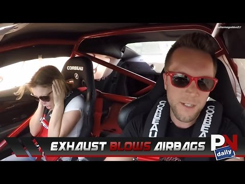 A Camaro ZL1Exhaust System So Loud It Blows The Airbags