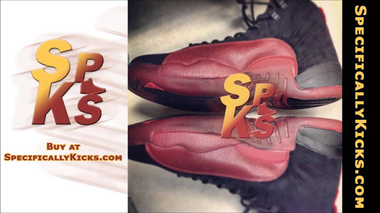 7d76ec24e71 Air Jordan 12 (XII) Retro Flu Game Black   Varsity Red 130690-065 at  SpecificallyKicks.com