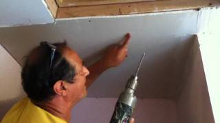 How to Repair Drywall Ceiling Water Damaged Drywall Recorded with T...