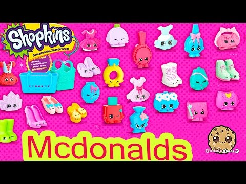 Coming Soon In Mcdonalds Fast Food Happy Meals Exclusive Shopkins Seasons 1, 2, 3, 4