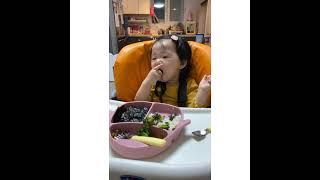 브로콜리만 골라먹는 유아식 먹방