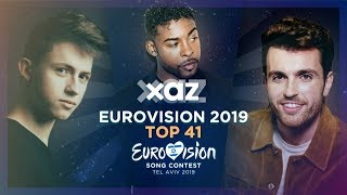 Cover images Eurovision 2019: Top 41