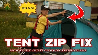 HOW TO FIX A TENT ZIP by camplight.co.uk