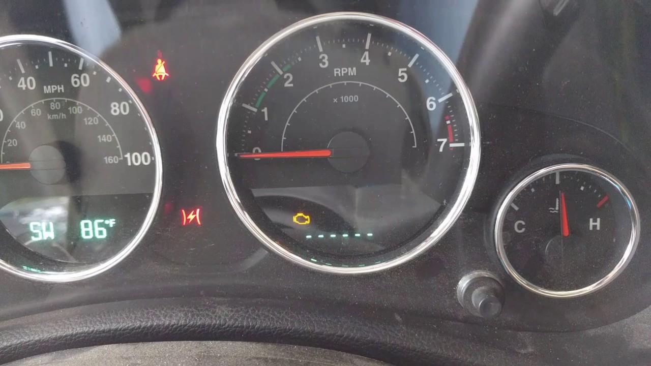 Jeep Wrangler Check Engine Light
