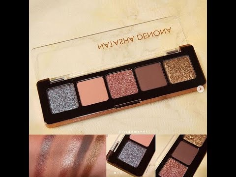 swatches natasha denona mini star eyeshadow palette youtube