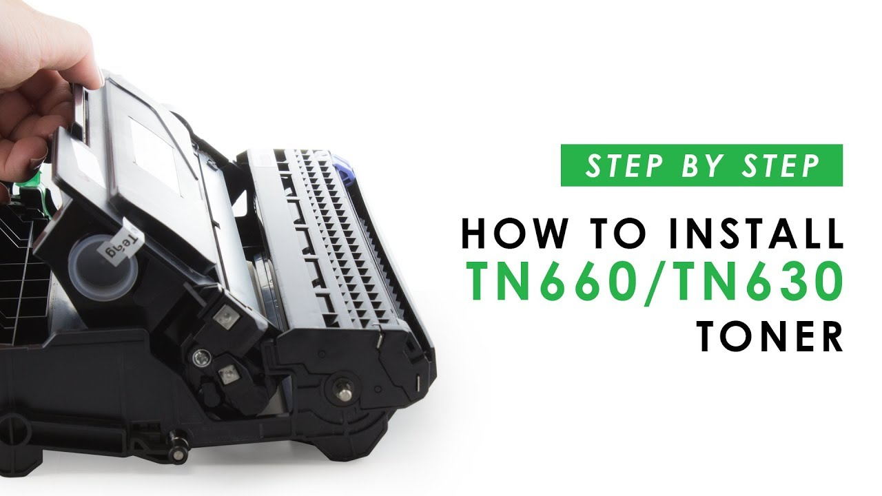 how to install a tn630 or tn660 toner cartridge in your printer [ 1280 x 720 Pixel ]