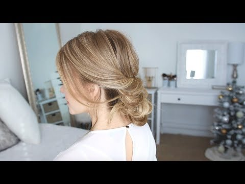 Aveda How-To | Holiday Party Elegant Low Bun Hairstyle Tutorial with Missy Sue thumbnail