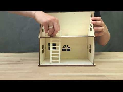 Self-assemble doll house