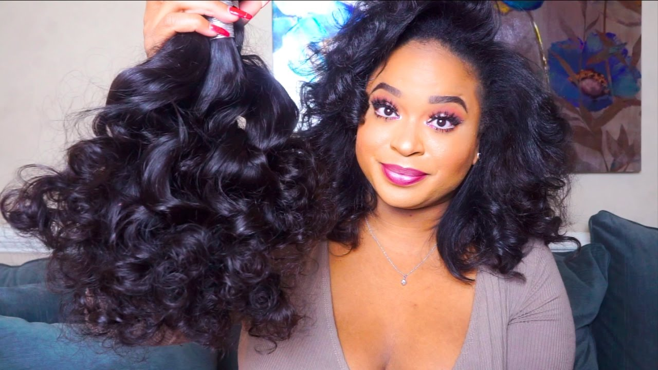 Modern Show Hair Aliexpress Peruvian Loose Wave With Lace Closure Unboxing You