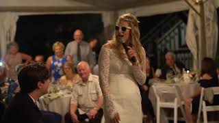 """""""Whatta Man!"""" - Wife surprise raps to her husband at their wedding reception"""