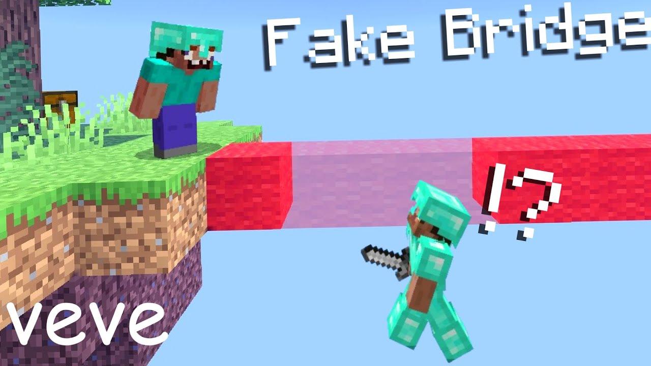 Minecraft Fake Bridge Trap