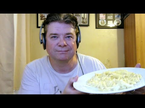 ASMR MUKBANG Eating Mac And Cheese And Drinking Ice Cold Milk