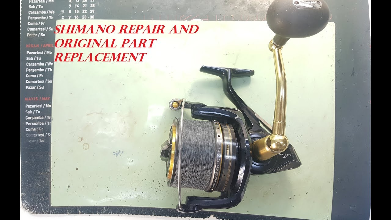 Shimano Bullseye 9080 xt | Shimano Reel Repair and Original Part  Replacement | Surf Casting Reel