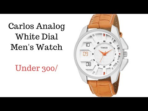 Carlos Analog White Dial Men's Watch II Under 300 🔥🔥🔥