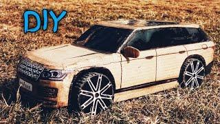 How To Make a rc Car (LAND ROVER ,RANGE ROVER 2017) AMAZING DIY CARDBOARD CAR, CARDBOARD PAPER CAR