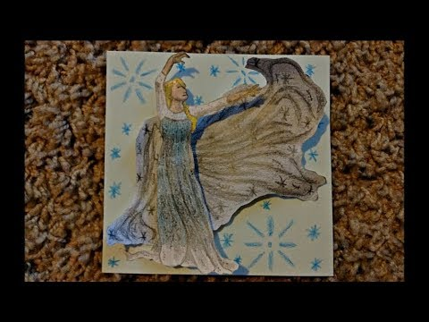 "Paper Model of Elsa from ""Frozen"""