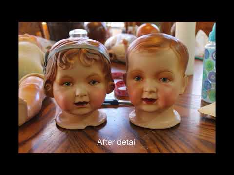 How to restore and repair old composition dolls, restoration LaDonna Briggs Sweet Potato Pie Nursery