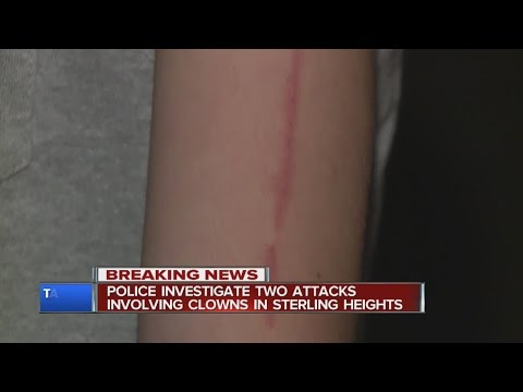 Clown attacks in Sterling Heights