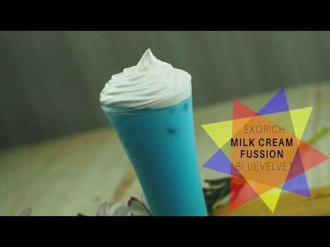 cara-membuat-minuman-kekinian-:milk-cream-fussion-bluevelvet