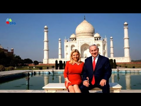 Israeli PM Netanyahu visits the Taj Mahal during visit to India