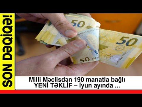 SON DƏQİQƏ! Milli Məclisdən 190 Manatla Bağlı YENİ TƏKLİF – İyun Ayında ...