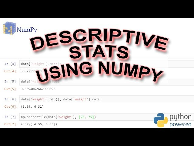 How to do Descriptive Statistics in Python using Numpy