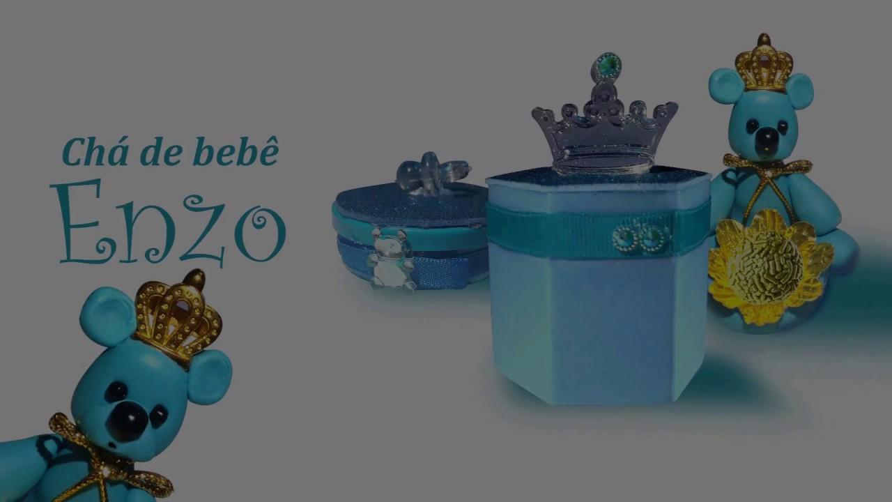 Decoraç u00e3o Preparativos Chá de Beb u00ea Urso Príncipe Parte 04 Príncipe Enzo YouTube -> Decoração Cha De Bebe Ursinho Principe Simples