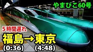 【東北新幹線大遅延】夜行列車と化したやまびこ60号乗車記【1806秋田13】