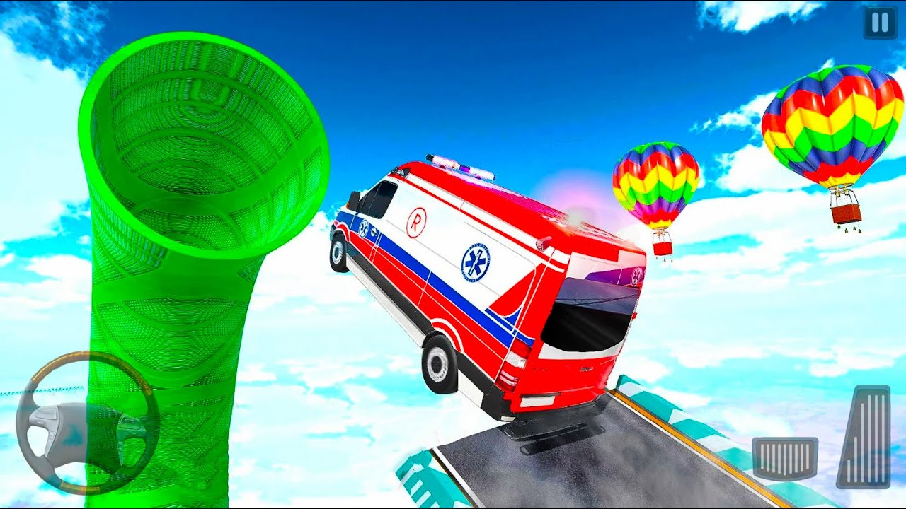 Ambulance Van Truck Stunts 3D - Mega Ramp Emergency GT Games - Android Gameplay