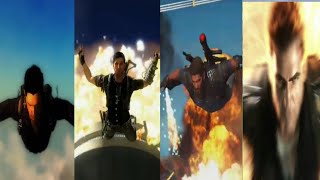 Just Cause 1, 2, 3, 4 Trailers Comparison