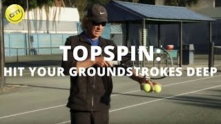 How To Hit Your Topspin Groundstrokes Deep