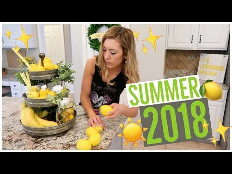 CLEAN + DECORATE WITH ME ✨🍋☀️ | NEW SUMMER DECOR 2018 | Brianna K