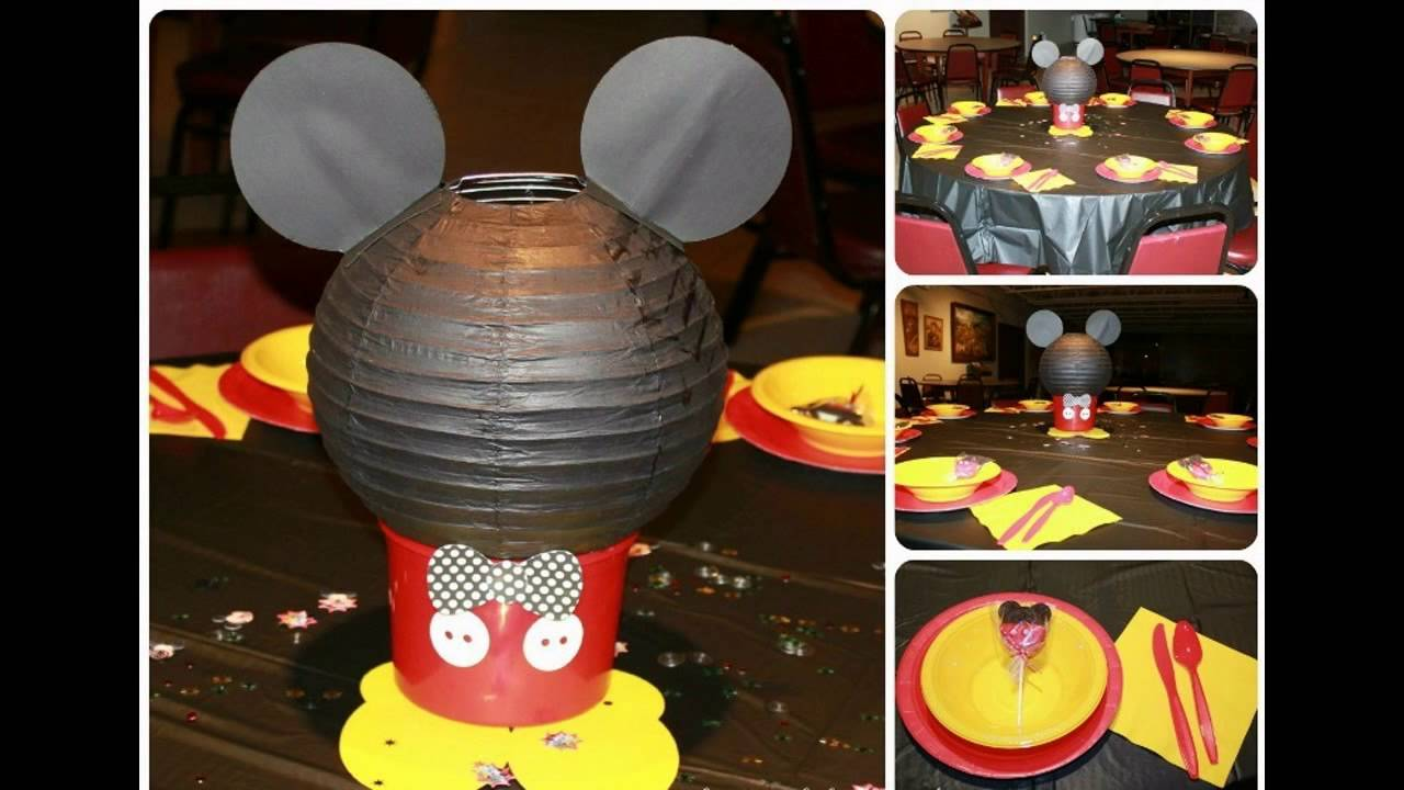 Creative Mickey mouse birthday party decorations ideas YouTube