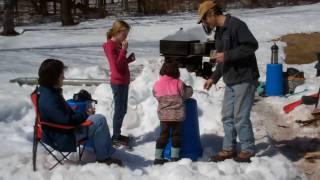Maple Sap Boiling Among Friends 3-20-2011
