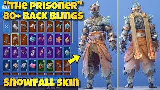 "NEW ""THE PRISONER"" SKIN Showcased With 80+ BACK BLINGS! Fortnite Battle Royale (SNOWFALL SKIN)"