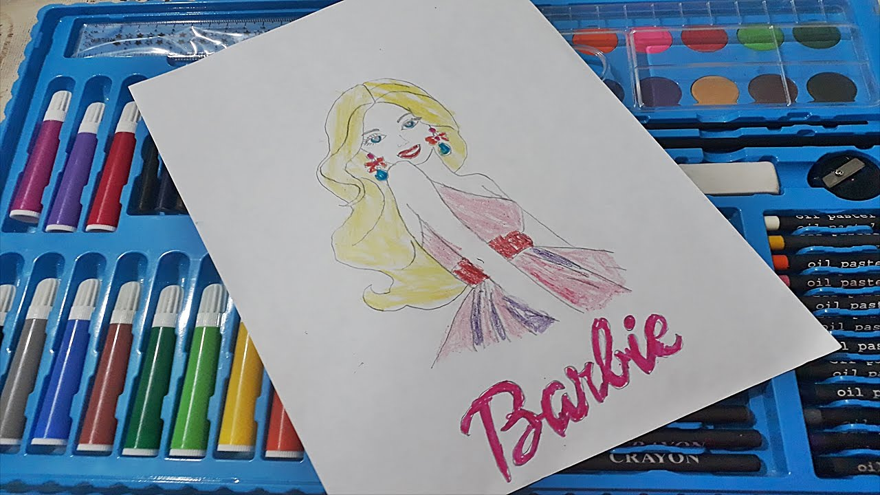Barbie Boyama Nasil Yapilir Barbie Coloring Youtube