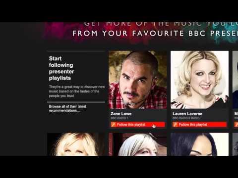 BBC Playlister: How to follow presenters #getplaylisting