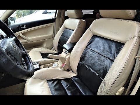 Покраска кожаных сидений VW Passat B5, AUDI, SKODA