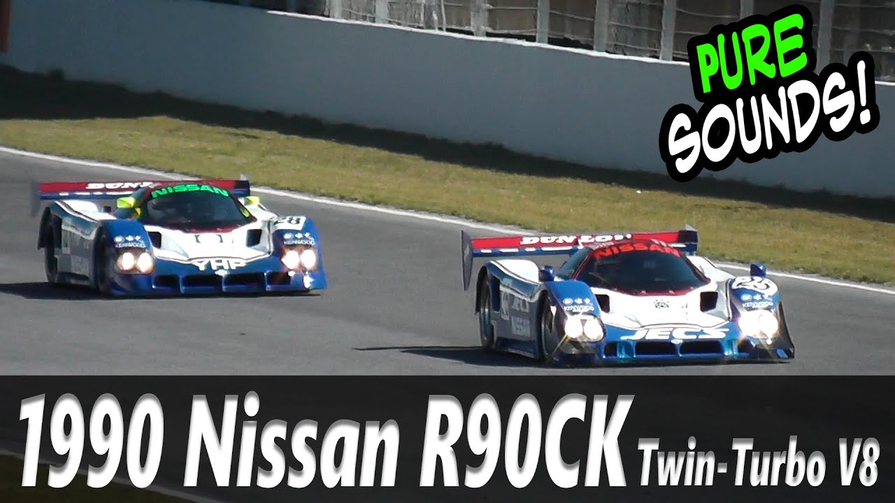 nissan r90ck le mans 24h group c twin turbo sound check car on track youtube. Black Bedroom Furniture Sets. Home Design Ideas