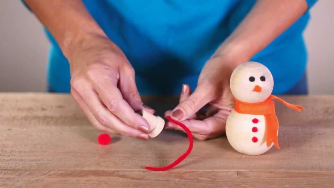 Christmas Craft Ideas Make A Snowman Family Youtube