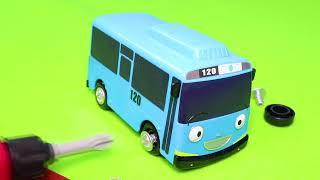 Pelleteuse, tracteur, tractopelle, Tayo the Little Bus jouet pour enfants - Toys for kids