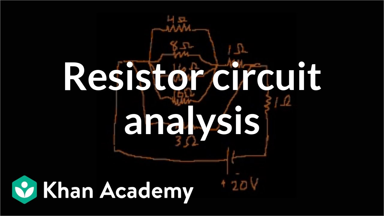 Example analyzing a more complex resistor circuit physics khan youcanlearnanything subscribe ccuart Choice Image